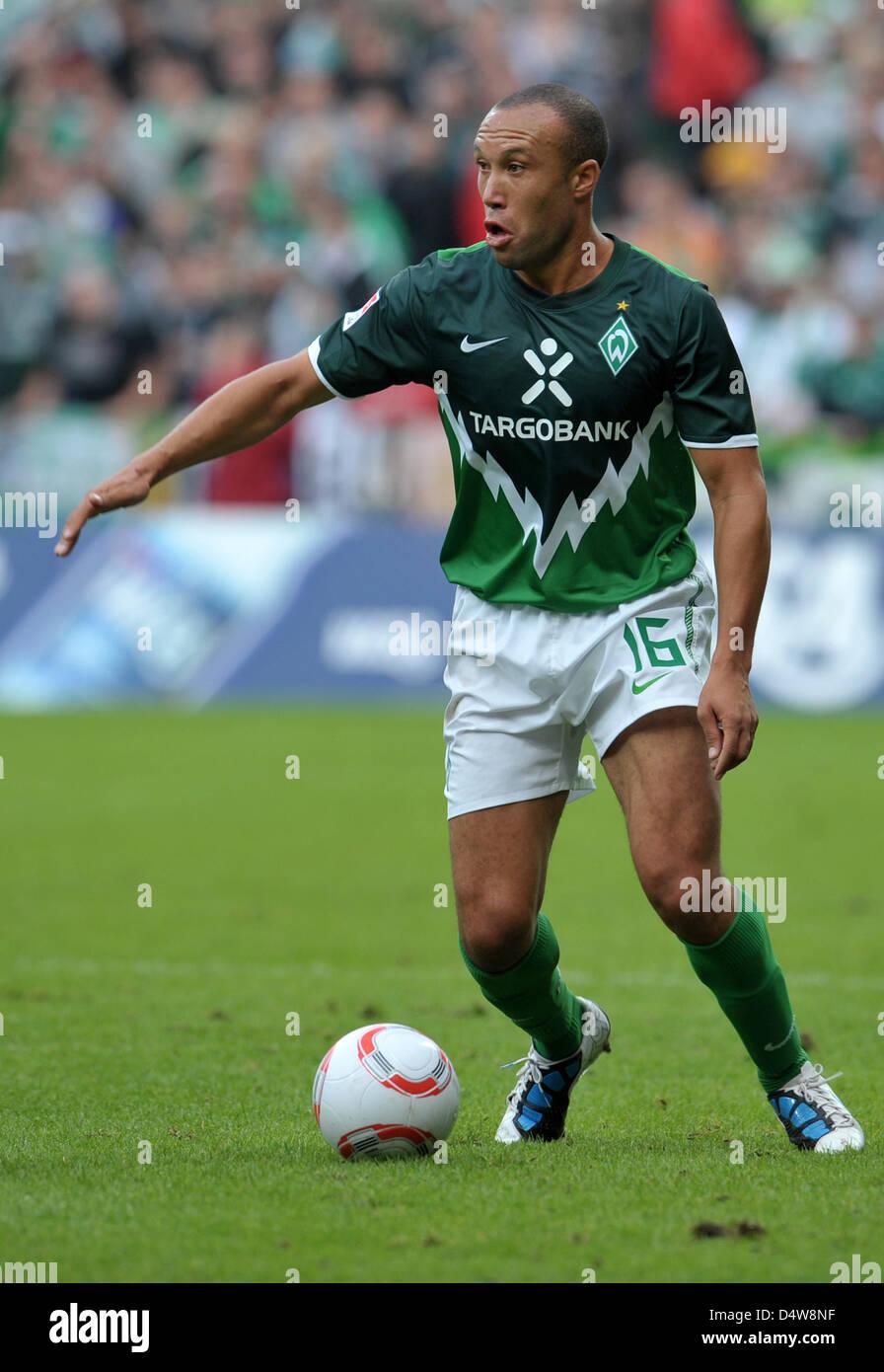Fu§ball Bundesliga 4. Spieltag: Werder Bremen - FSV Mainz 05 am Samstag (18.09.2010) im Weserstadion in Bremen. - Stock Image