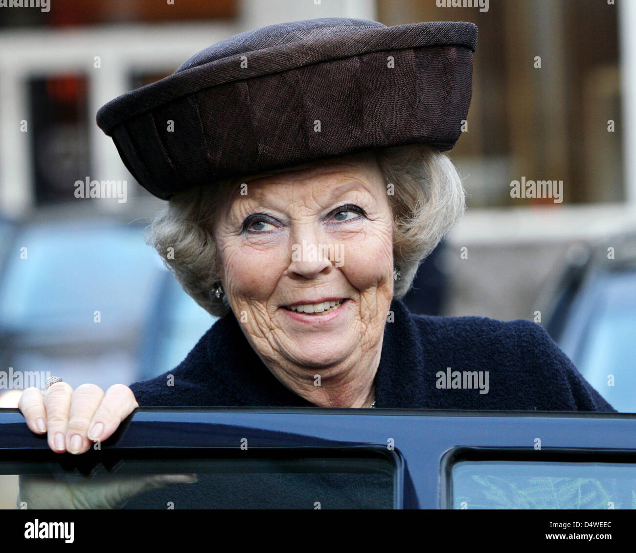Queen Beatrix of the Netherlands attends the congress 'Resilience and Confidence' of the Social Economic Council Stock Photo