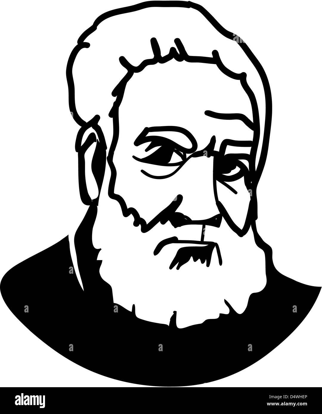 Alexander Graham Bell - American Inventor of telephone Stock Photo ...