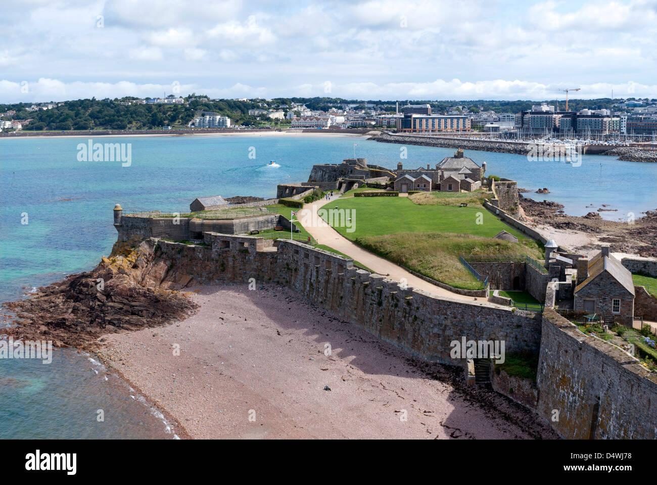 Elizabeth Castle, St Helier, Jersey, Channel Islands - Stock Image