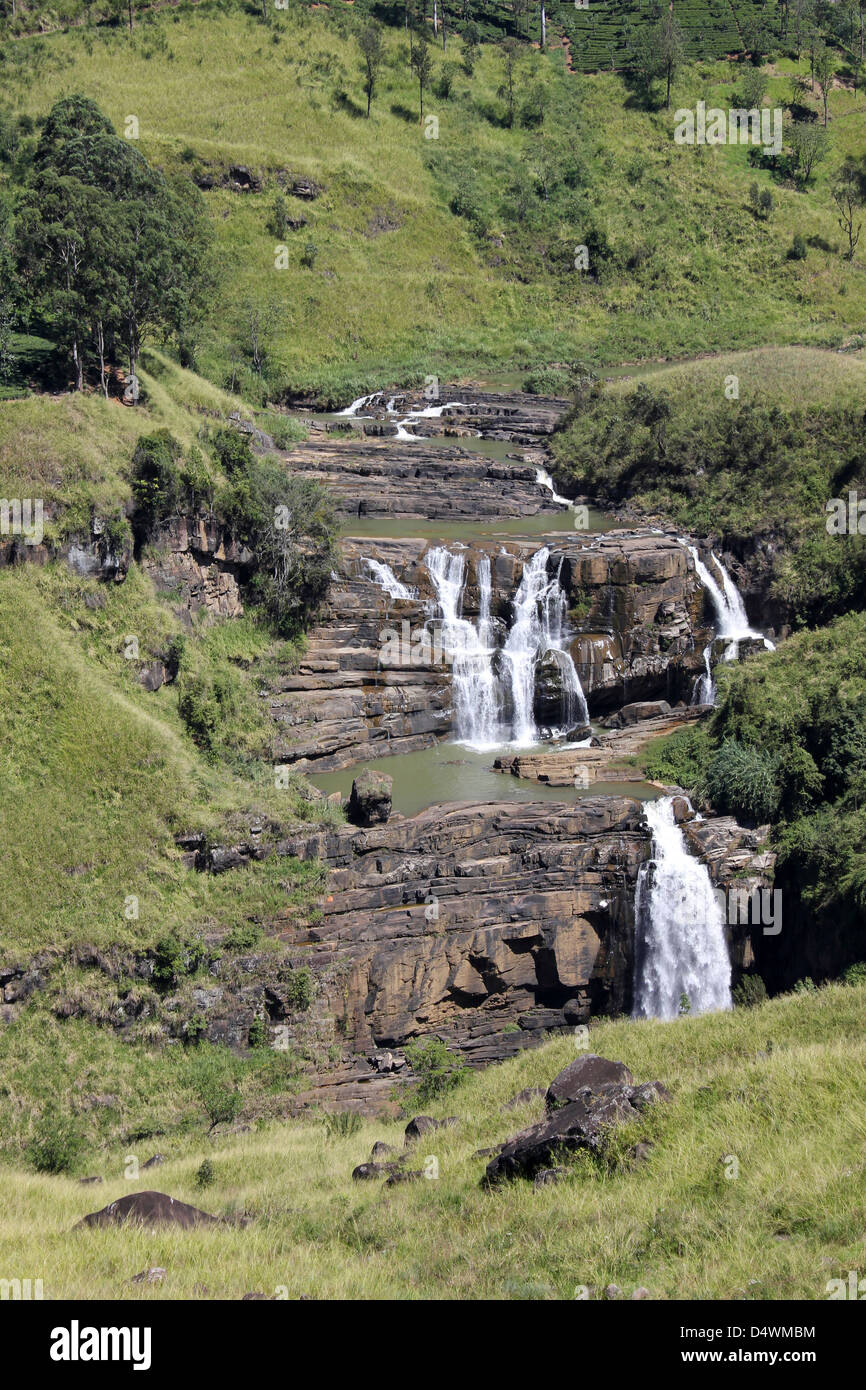 St. Clair's Falls, Sri Lanka Stock Photo