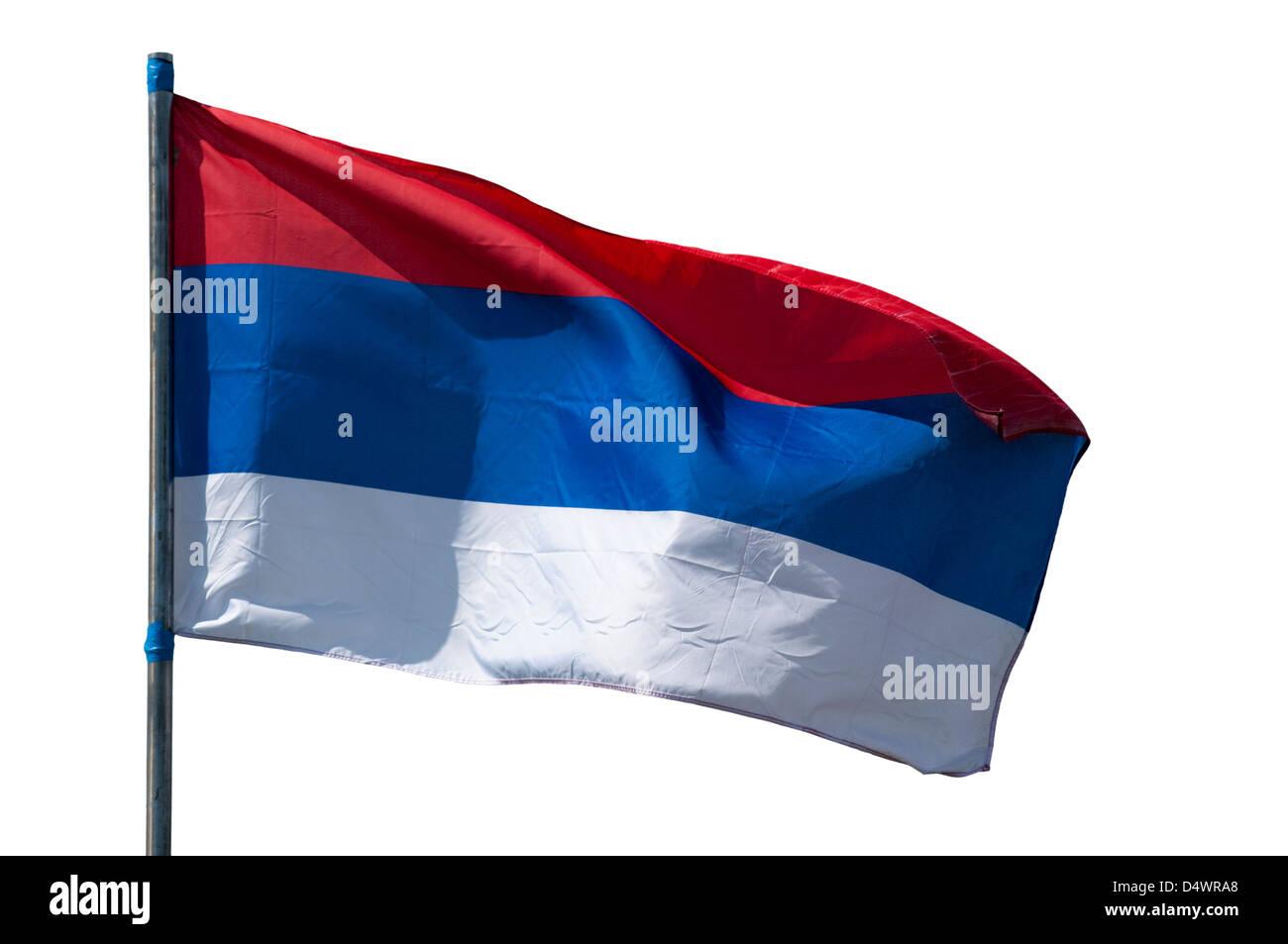 Serbian national flag - Stock Image