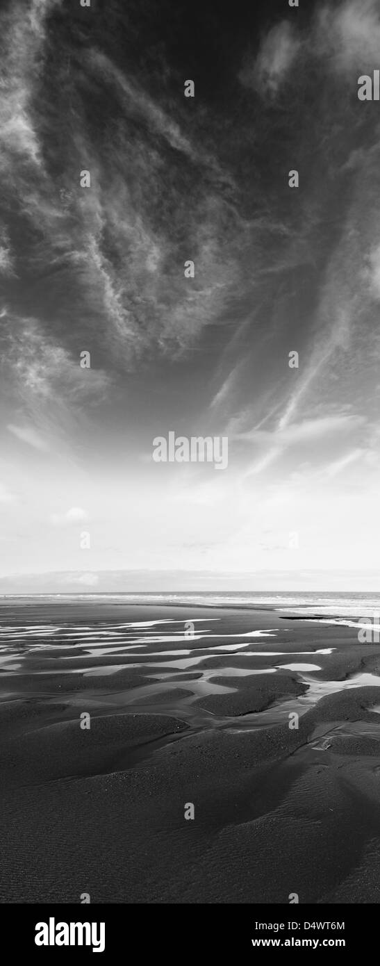 rippled beach - Stock Image