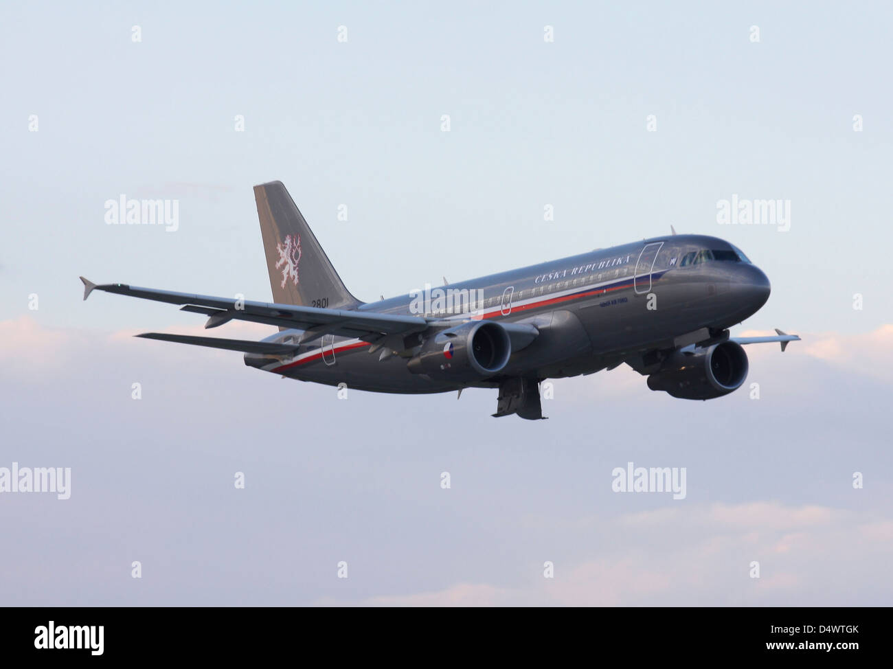 Czech Air Force flagship Airbus A319, Hradec Kralove, Czech Republic. - Stock Image