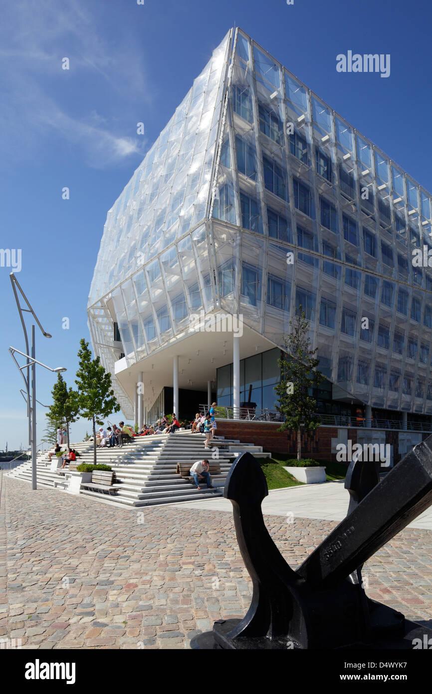 Hamburg, Germany, the Unilever building in HafenCity - Stock Image