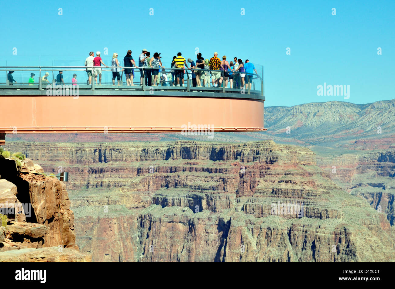 Skywalk Platform Grand Canyon Stock Photos Skywalk