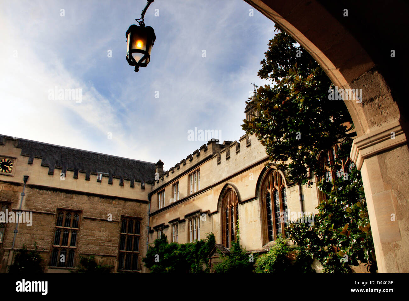 A quadrangle in one of the colleges in Oxford, England - Stock Image