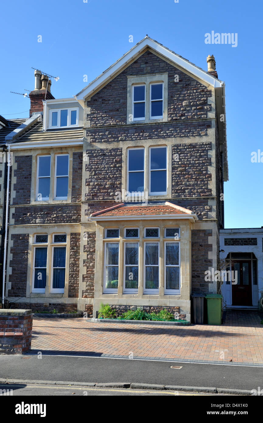 Victorian stone built semi detached urban 3 story house for 3 story house