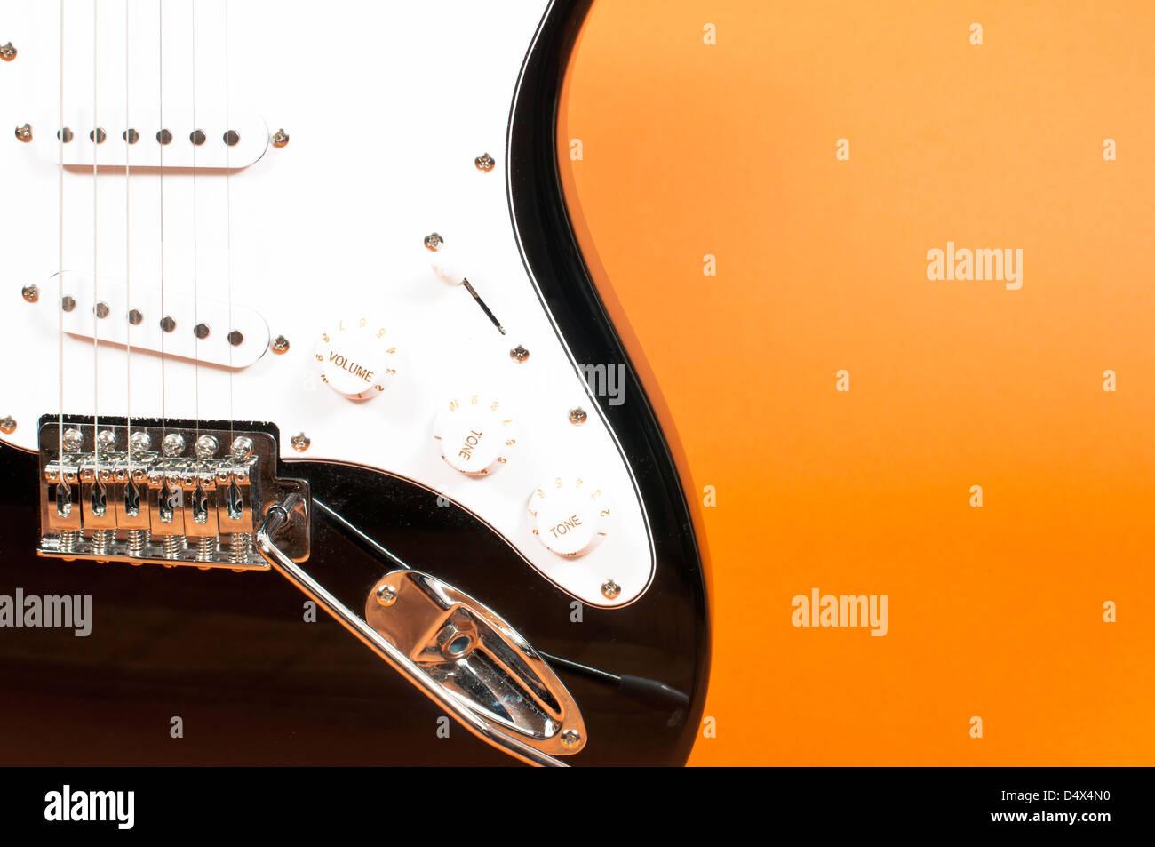 Black And Orange Guitar Stock Photos Black And Orange Guitar Stock