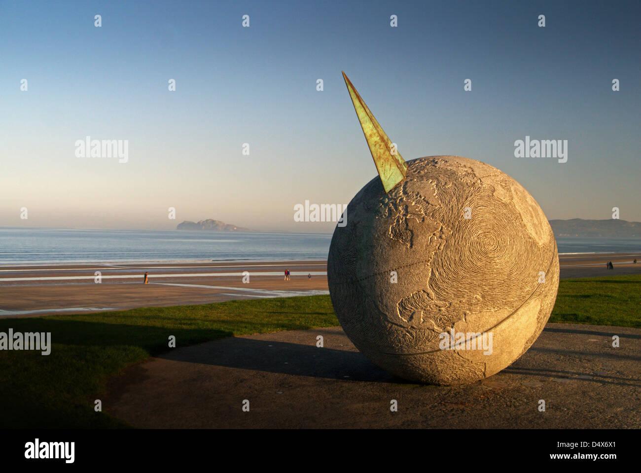 Globe Monument Portmarnock Strand Co. Dublin - Stock Image