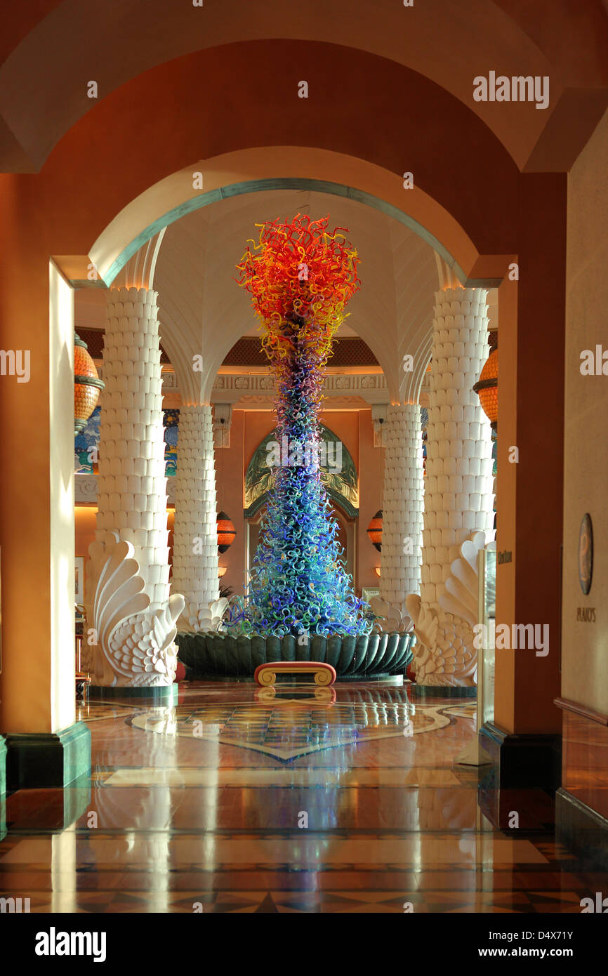 Atlantis hotel lobby, Dubai, United Arab Emirates - Stock Image