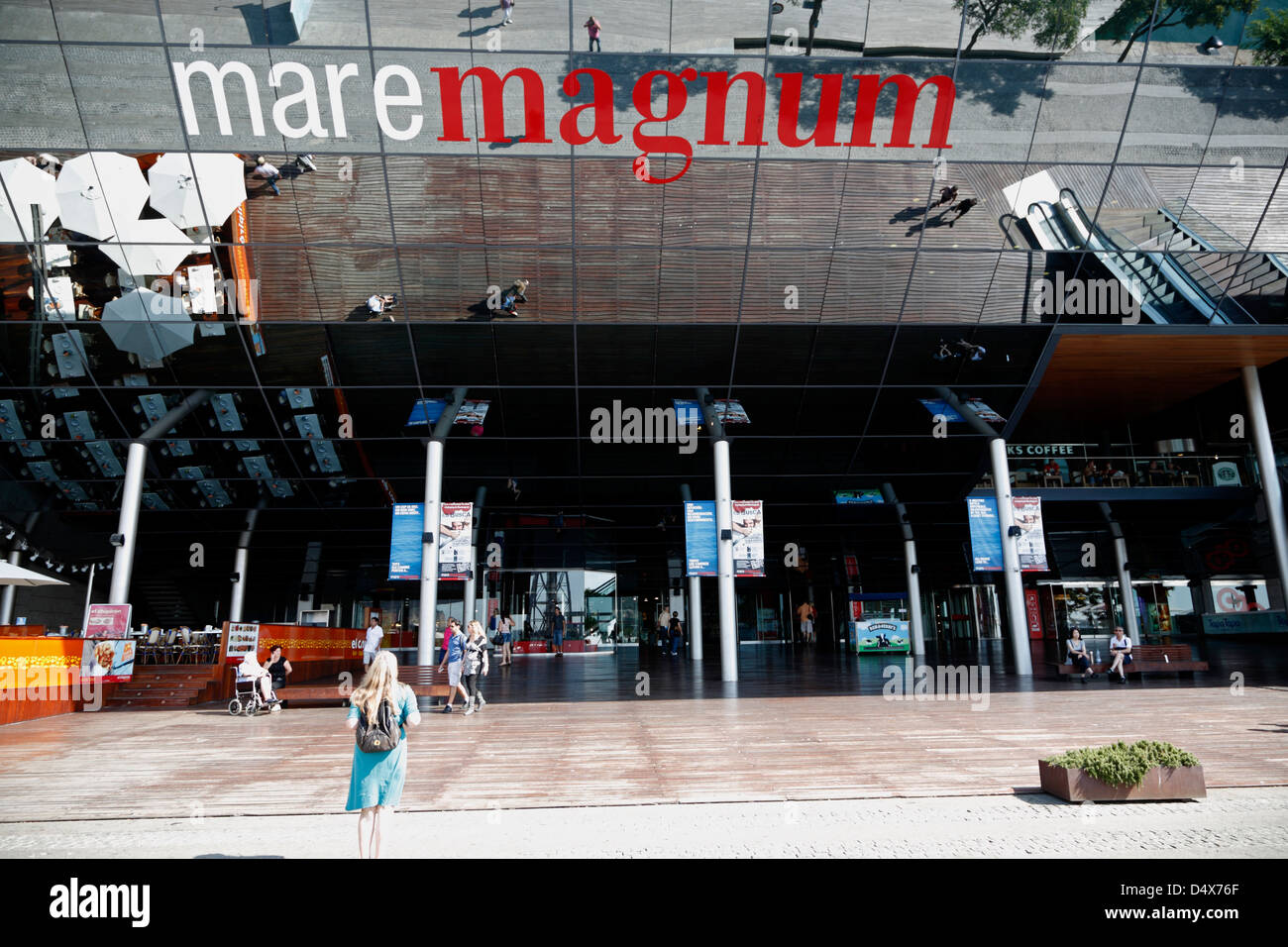 Mare Magnum, shopping mall and entertainment district, Port Vell, Barcelona, Spain - Stock Image