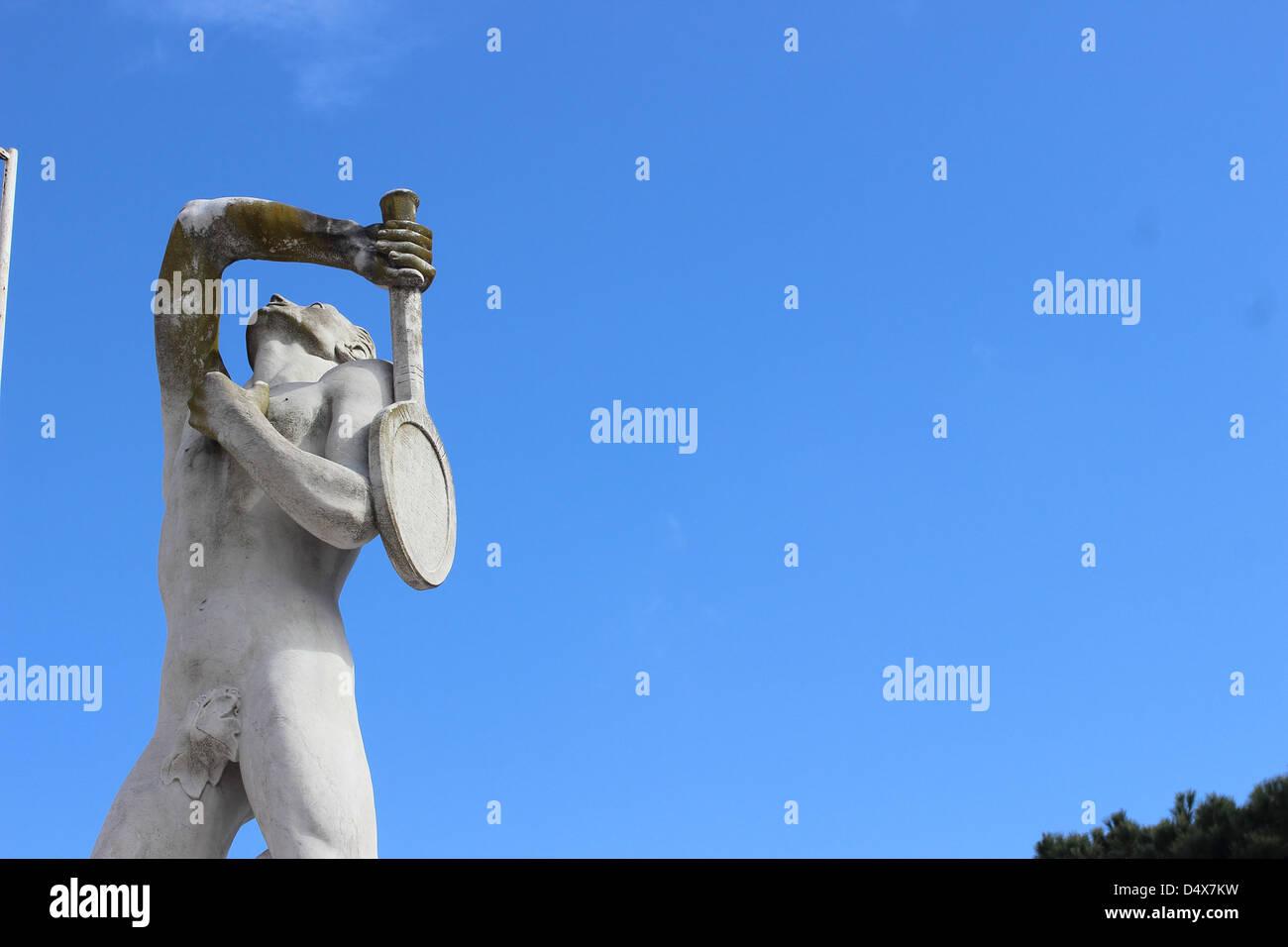 Olympic sport statue Foro Italico - Rome - - Stock Image