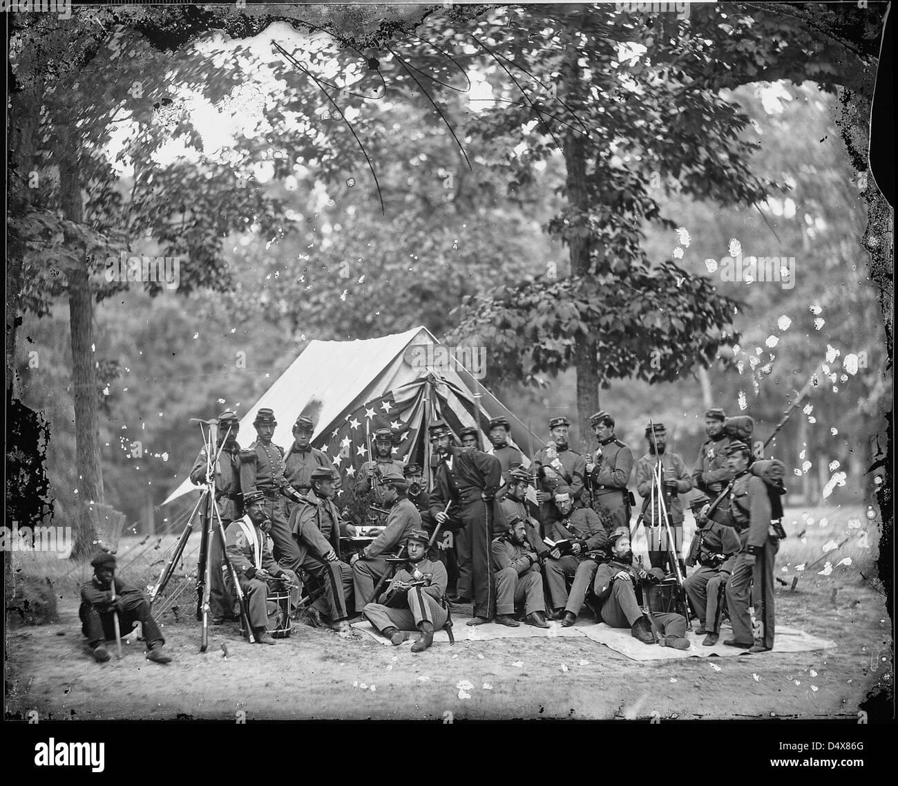 Engineer camp, 8th N.Y. State Militia - Stock Image