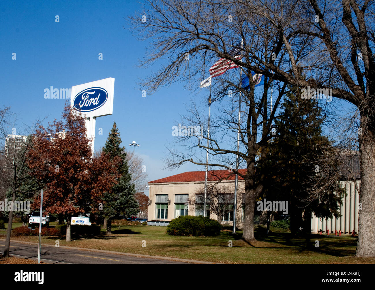 Ford Twin Cities Assembly Plant, closed in December 19, 2011. St Paul Minnesota MN USA - Stock Image