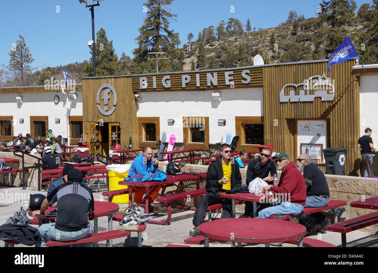 mountain high ski resort. big pines lodge at mountain high ski stock