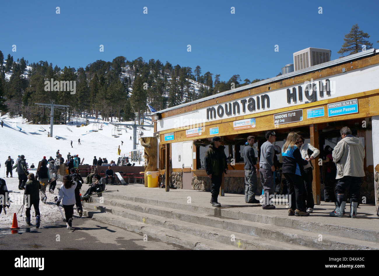 mountain high ski resort mountain high ski resort, southern stock