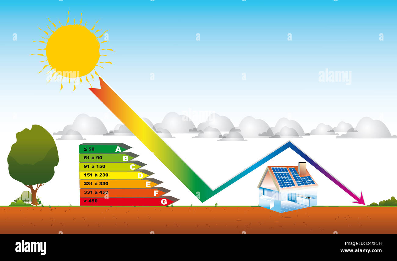 drawing home solar energy diagnosis stock photos drawing home