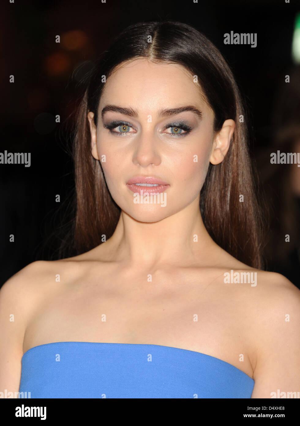 EMILIA CLARKE UK TV and film actress in March 2013. Photo Jeffrey Mayer - Stock Image