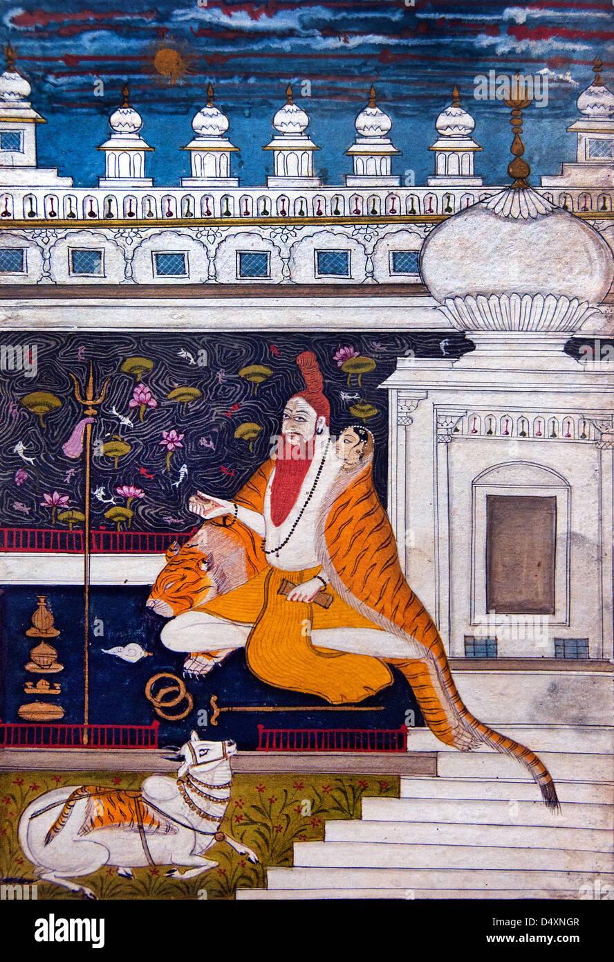 Bhairavi Ragini 18th Century Indian Rajasthan India miniature Hindhu - Stock Image