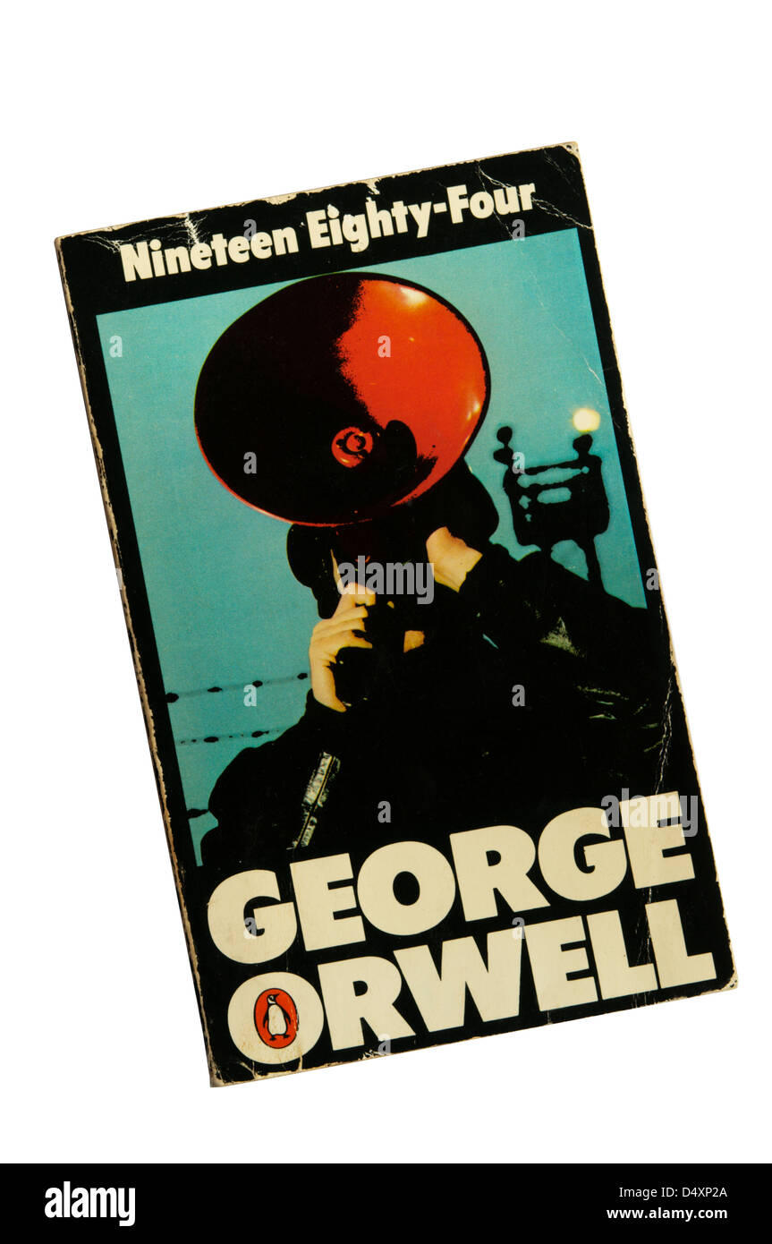 A copy of 'Nineteen Eighty-Four' by George Orwell. - Stock Image