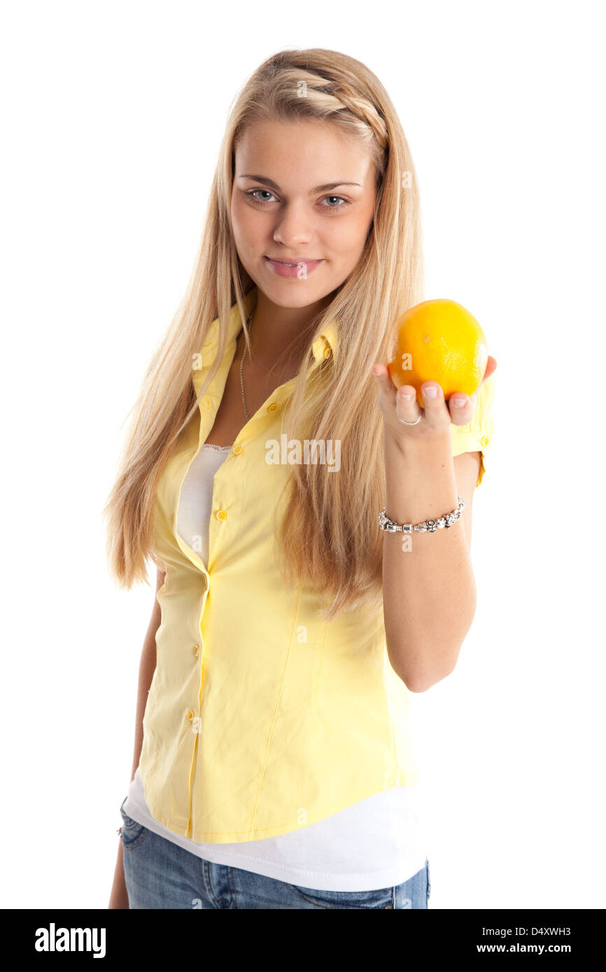 Young woman with vegatabels - Stock Image