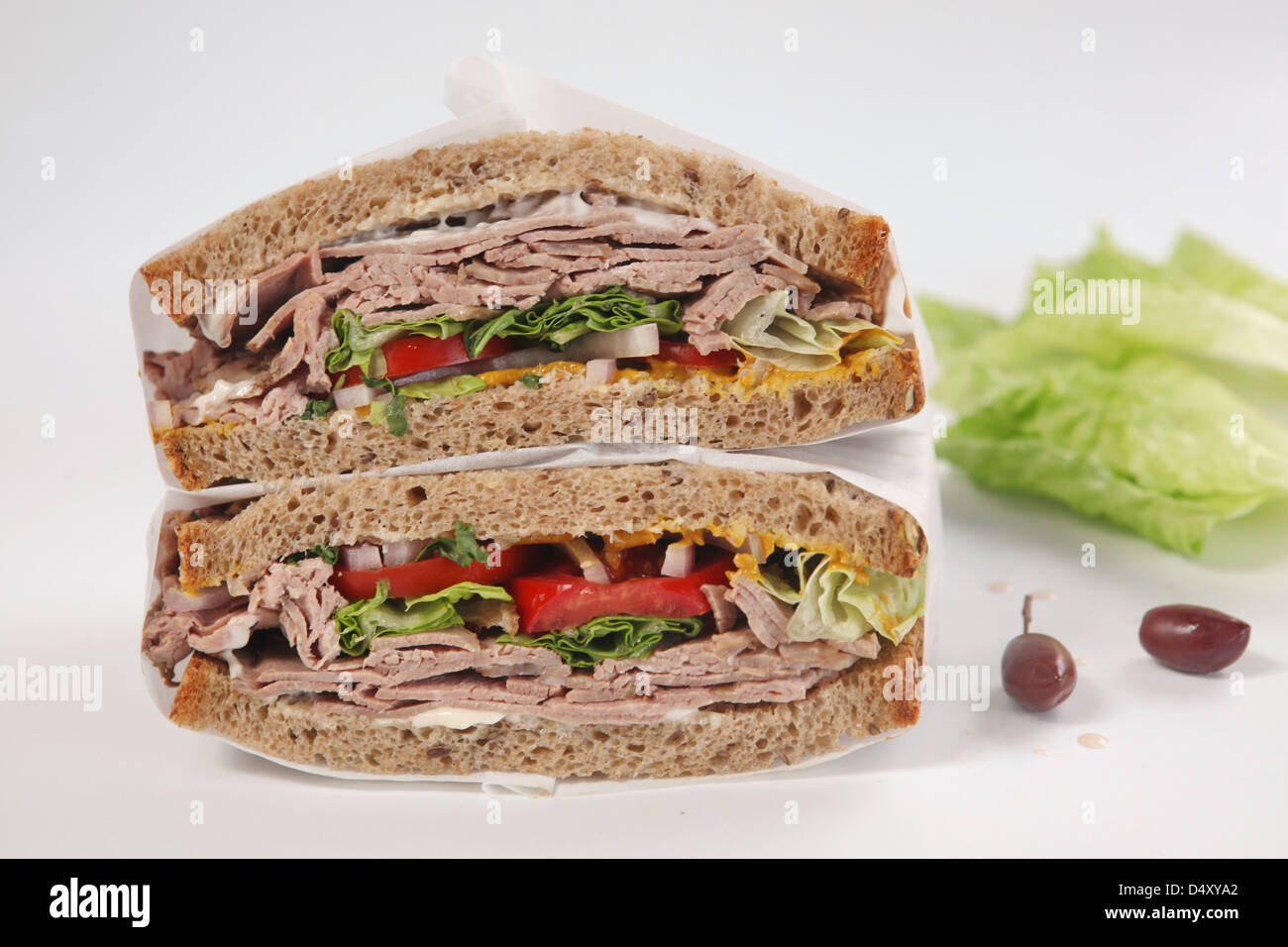 Sandwich with Cold cuts of beef Stock Photo