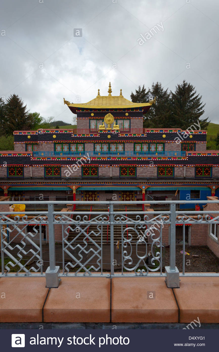 The Samye Ling Tibetan Buddhist Centre at Eskdalemuir, Dumfries and Galloway, Scotland - Stock Image