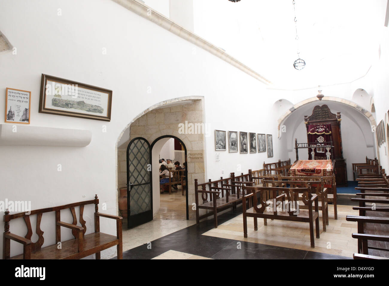 Israel, Jerusalem, Old City, Jewish Quarter, the Four Sephardic Synagogues complex. Emtsai Synagogue or Middle Synagogue - Stock Image