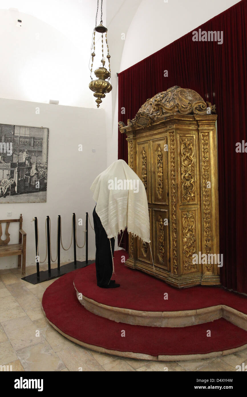 Israel, Jerusalem, Old City, Jewish Quarter, the Four Sephardic Synagogues complex. Istanbuli Synagogue - Stock Image