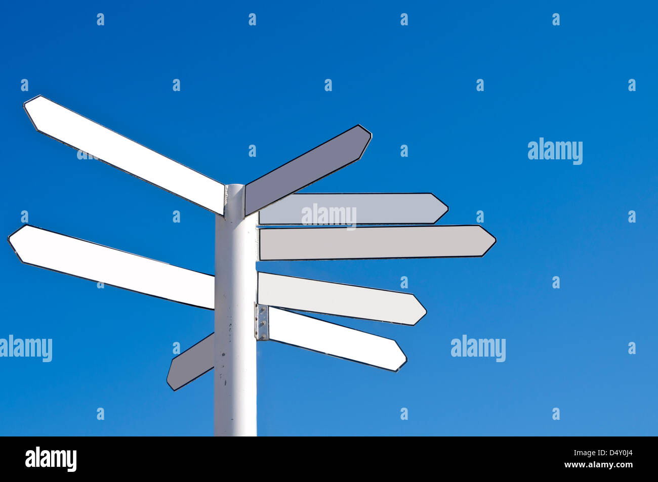 Blank direction signpost - Stock Image