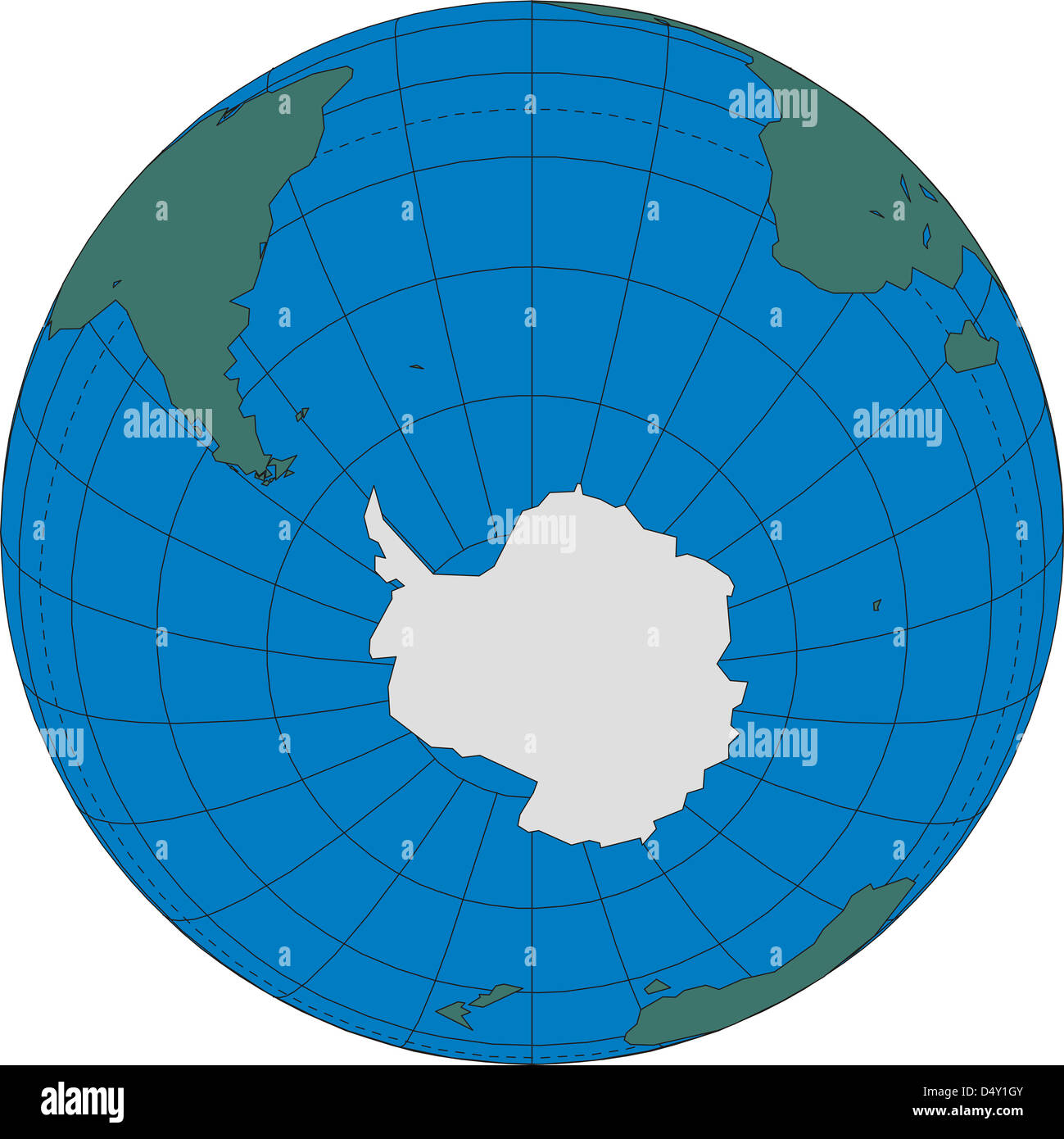 World map globe Antarctica South Pole Stock Photo: 54683691 ...