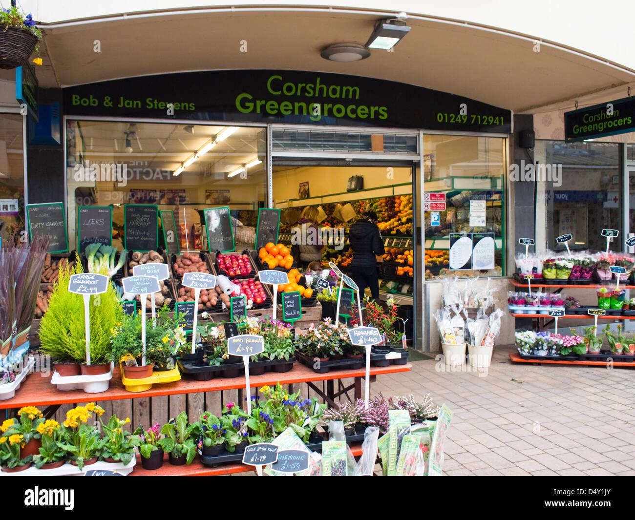Corsham Greengrocers Wiltshire England UK - Stock Image