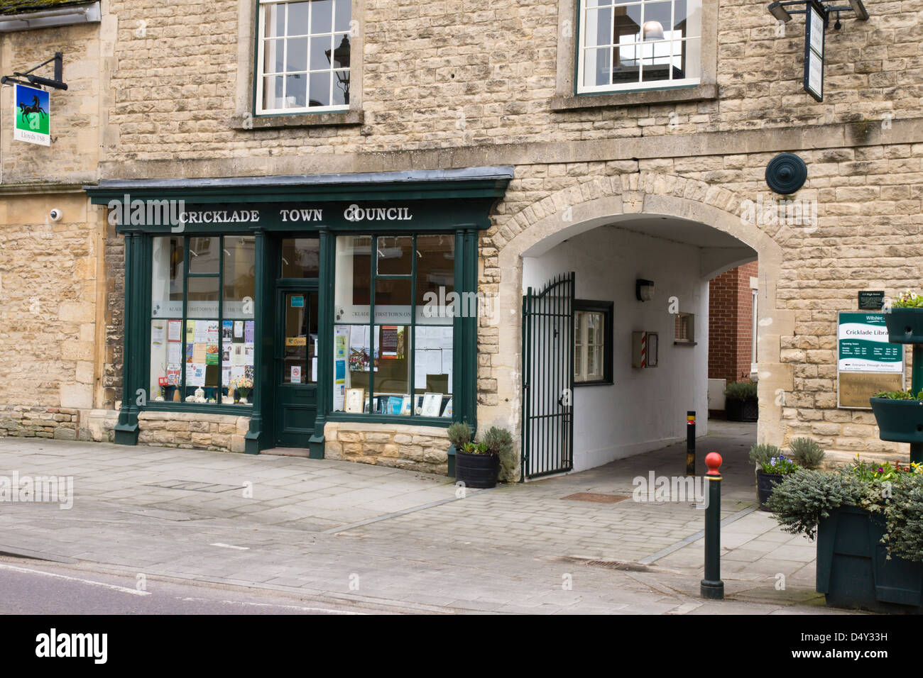 Cricklade town Council, a small town in Wiltshire England UK - Stock Image