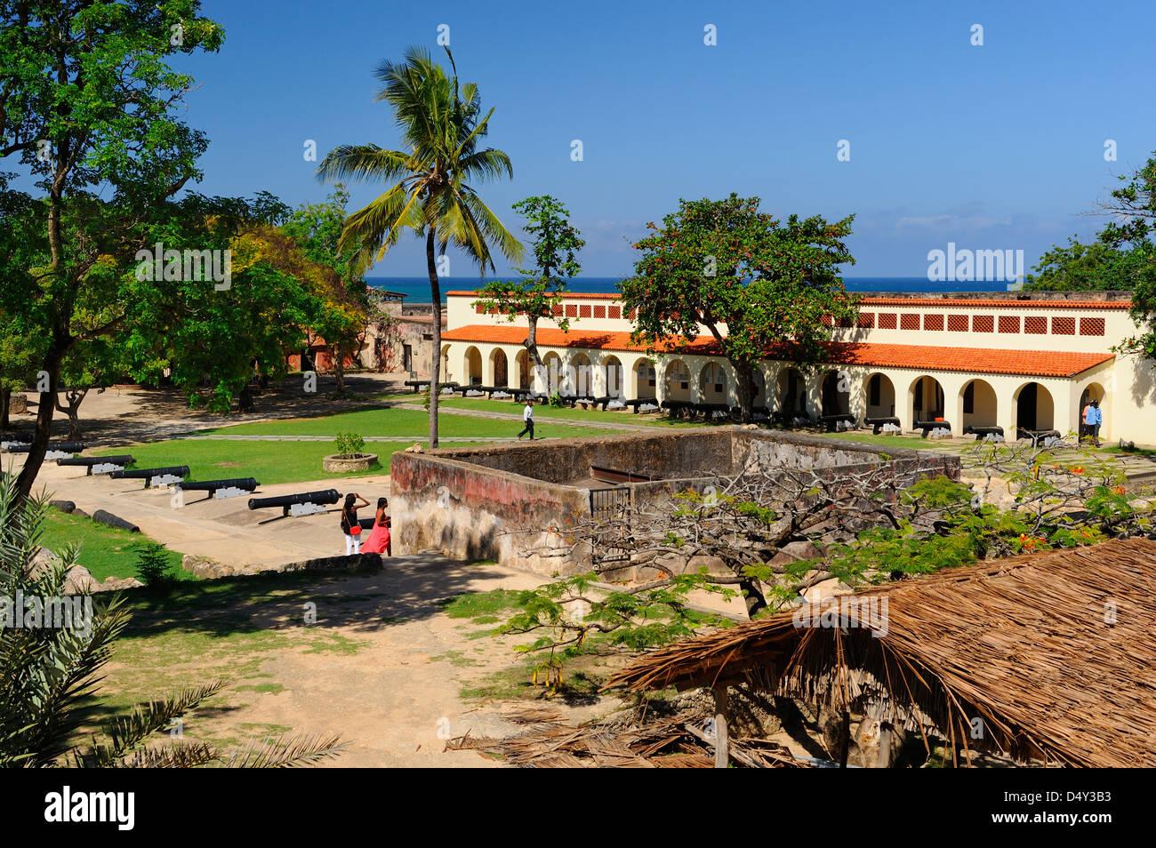 internal buildings at fort jesus on mombasa island kenya east