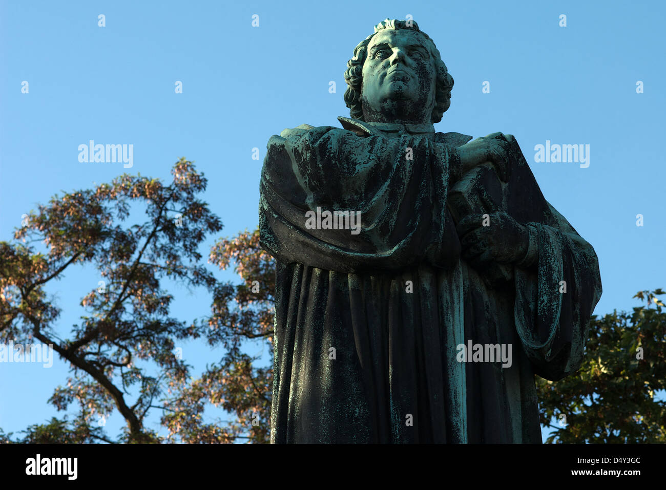 Eisenach, Germany, the statue of the famous reformer Martin Luther - Stock Image