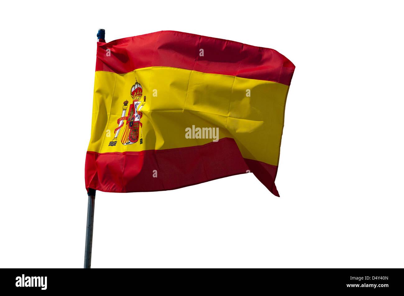 Spanish National Flag - Stock Image