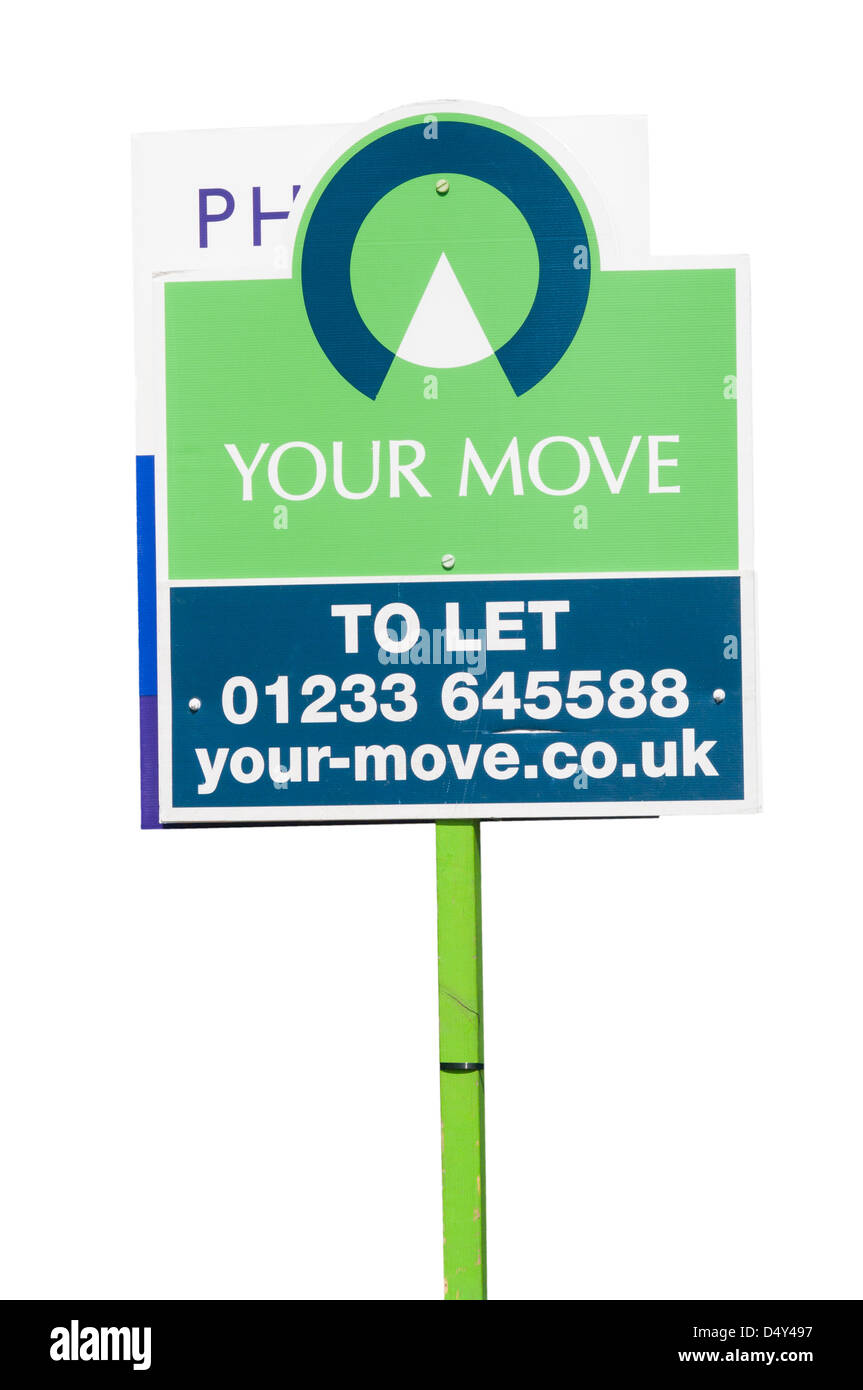 renting rental Your Move Property To Let Sign UK - Stock Image
