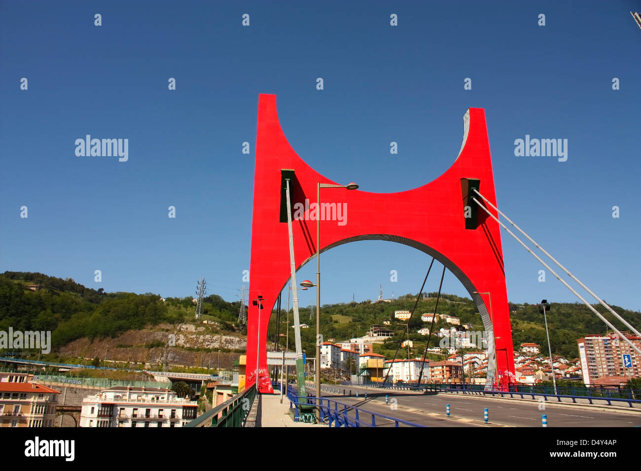 La Salve bridge, the gateway to the city of Bilbao Euskadi. - Stock Image