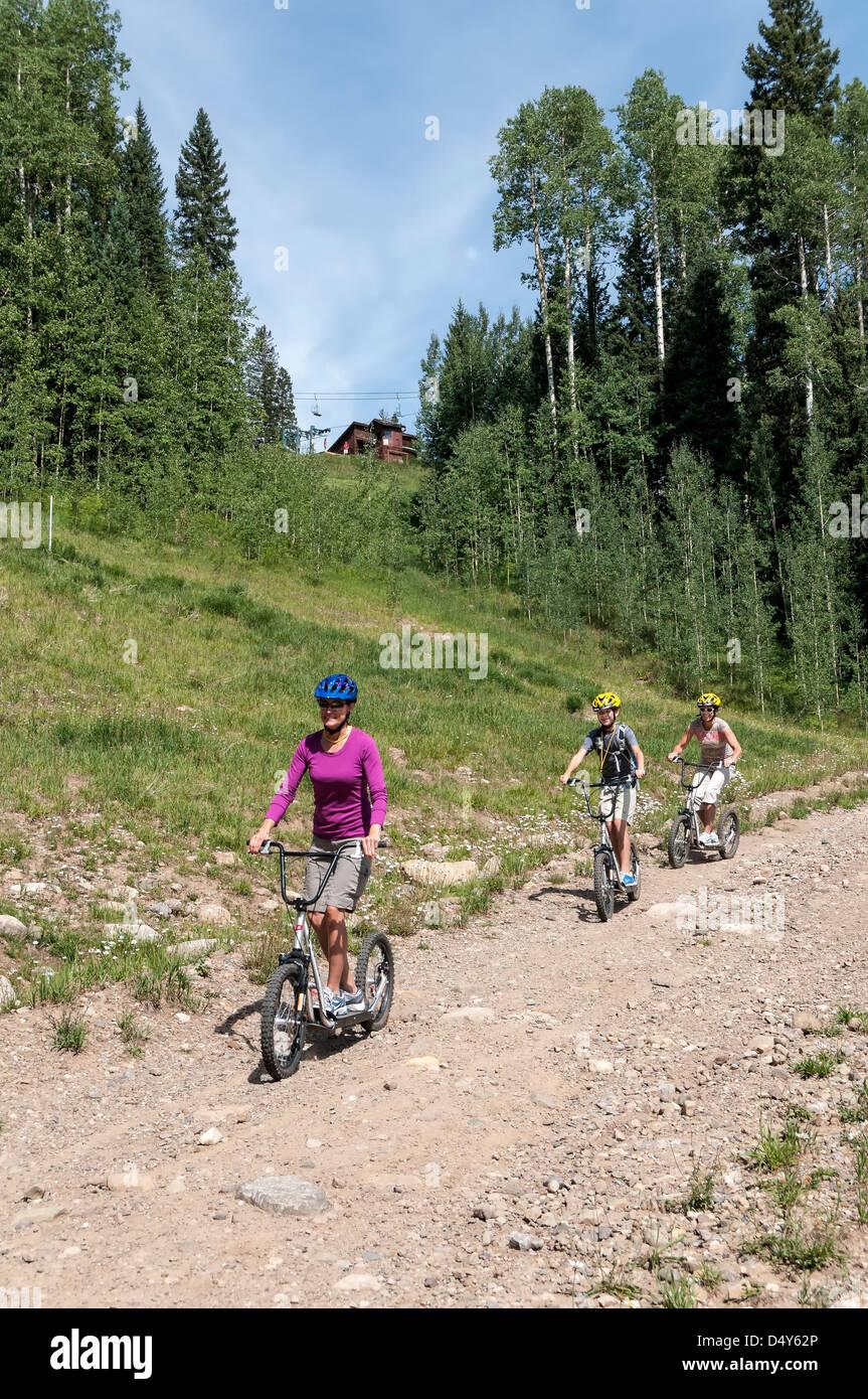 Diggler Mountain Scooter Stock Photos & Diggler Mountain