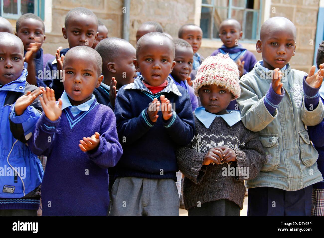 Africa, Kenya, Nanyuki. School children of the Nanyuki Children's Home. - Stock Image