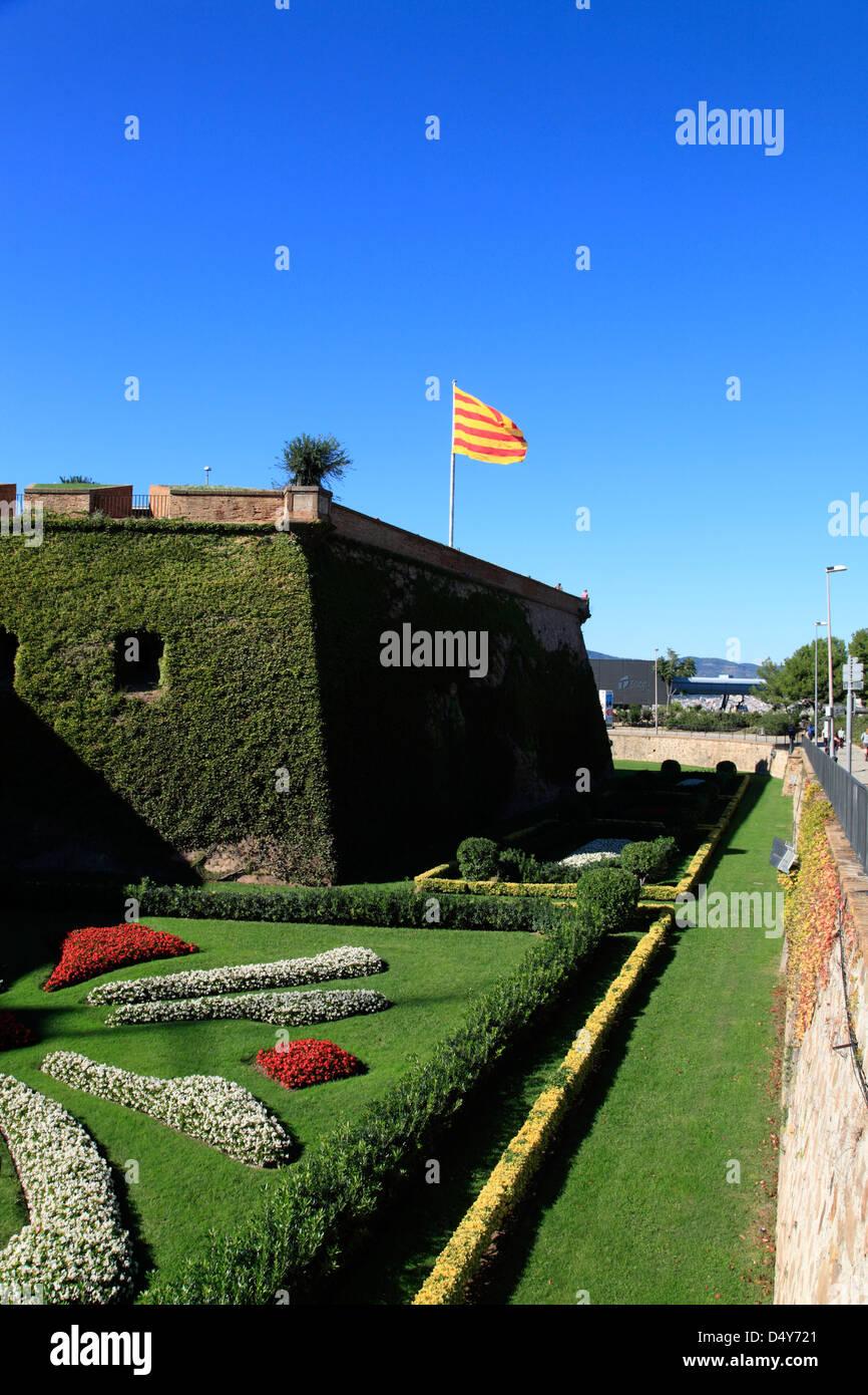 Castle de Montjuic, Barcelona, Spain - Stock Image