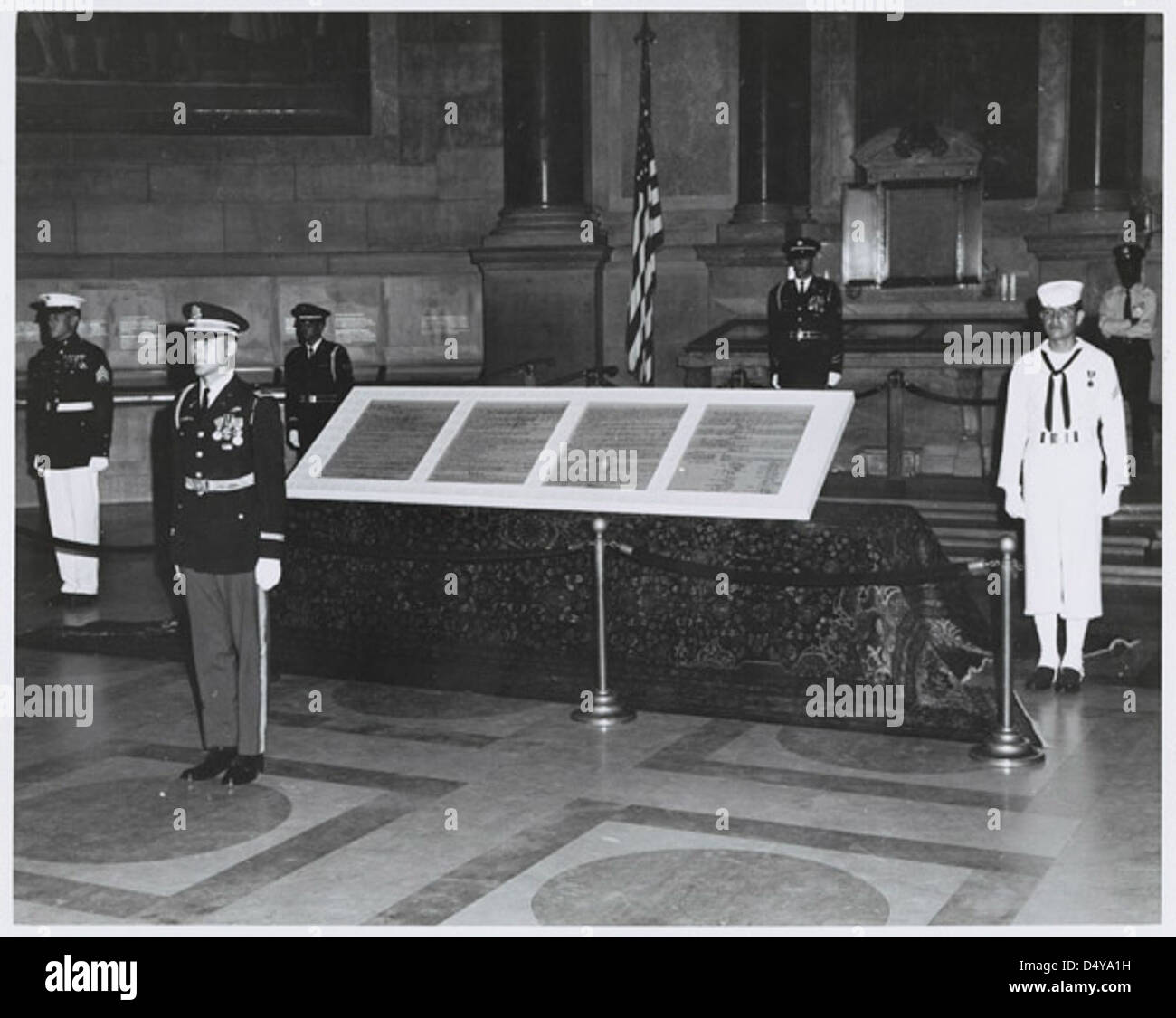 Photograph of First Exhibit of Entire U.S. Constitution Day Exhibit, 1970 - Stock Image