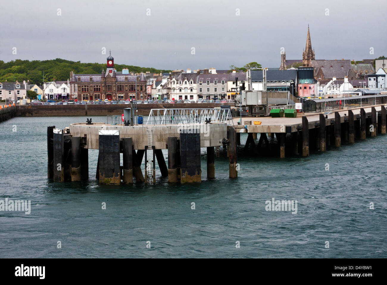 The harbour, wharfs and docks of Stornoway on the Isle of Lewis, Outer Hebrides, Scotland, - Stock Image