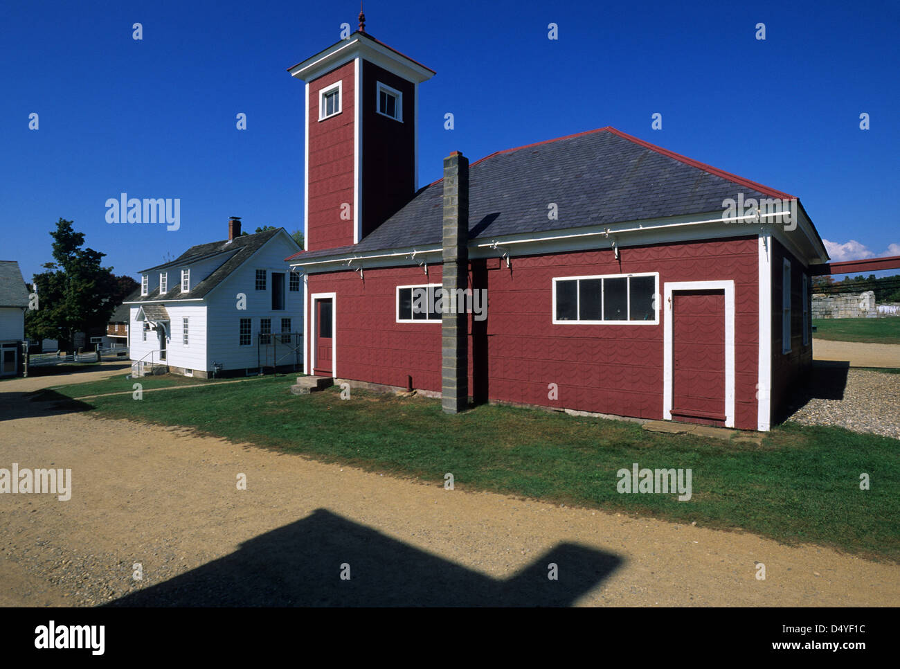 Elk281-1096 New Hampshire, Canterbury Shaker Village, Firehouse, 1908 - Stock Image