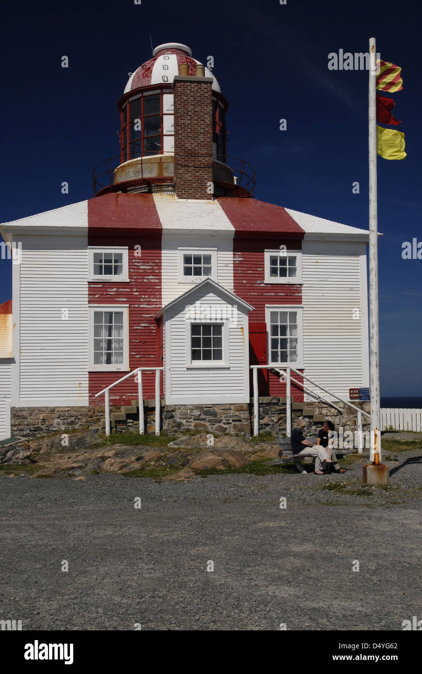 Cape Bonavista lighthouse, Newfoundland - Stock Image