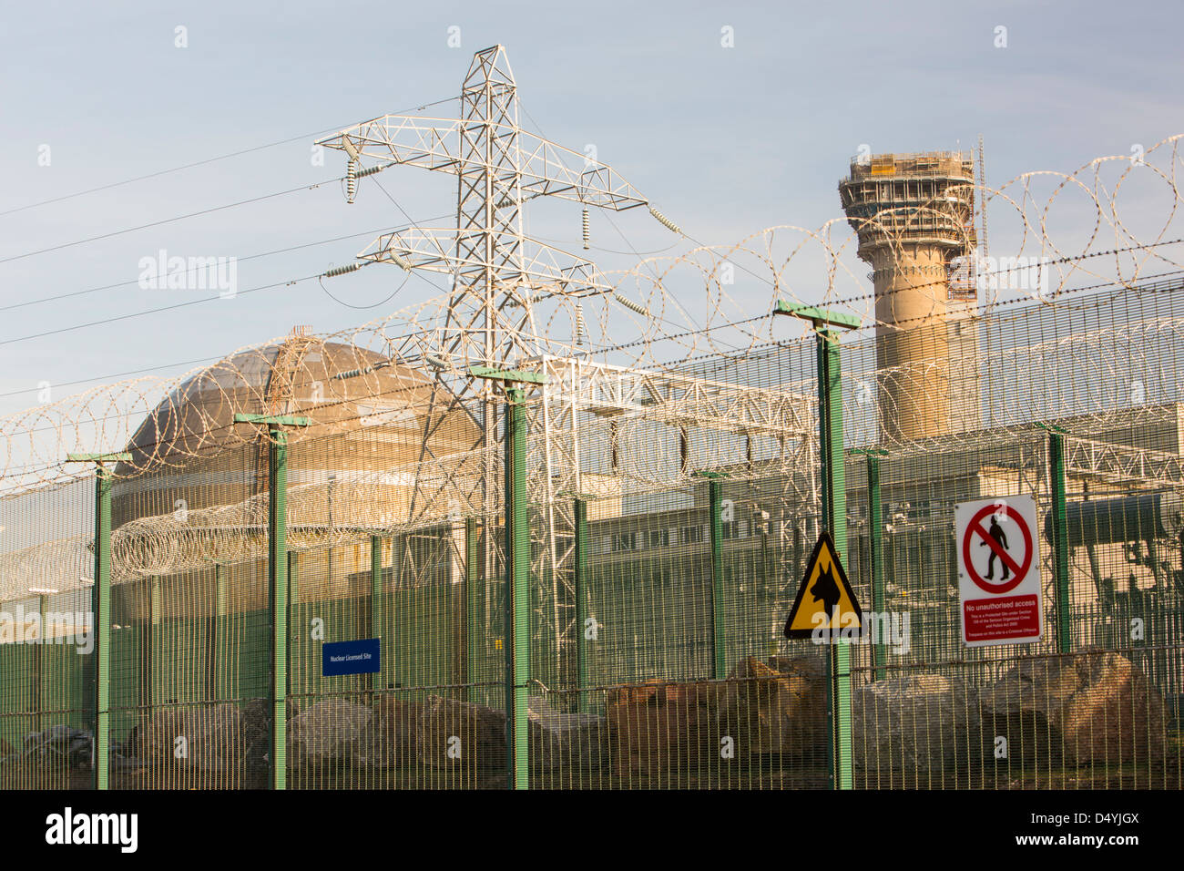 The nuclear reactor capped off at Sellafield nuclear power station following the 1957 disastrous fire. - Stock Image