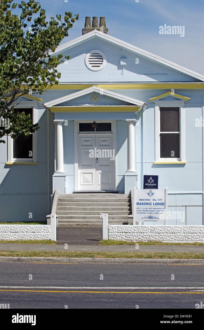 The Freemasonry Nau Mai Lodge on Feb 21 2013 in Taumarunui,NZ. - Stock Image