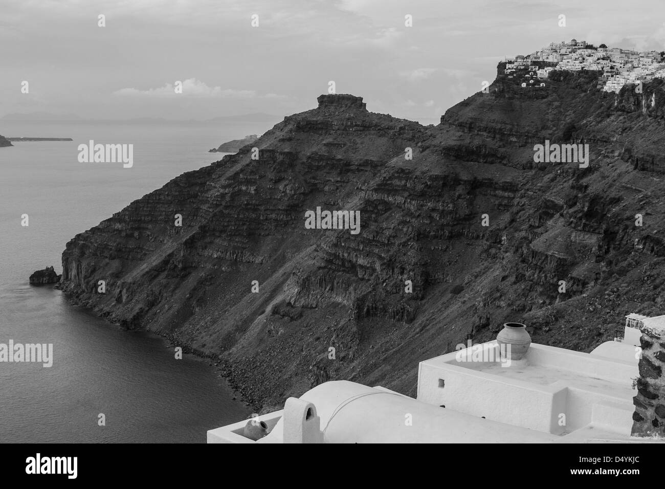 Picture taken in Santorini, Greece - Stock Image