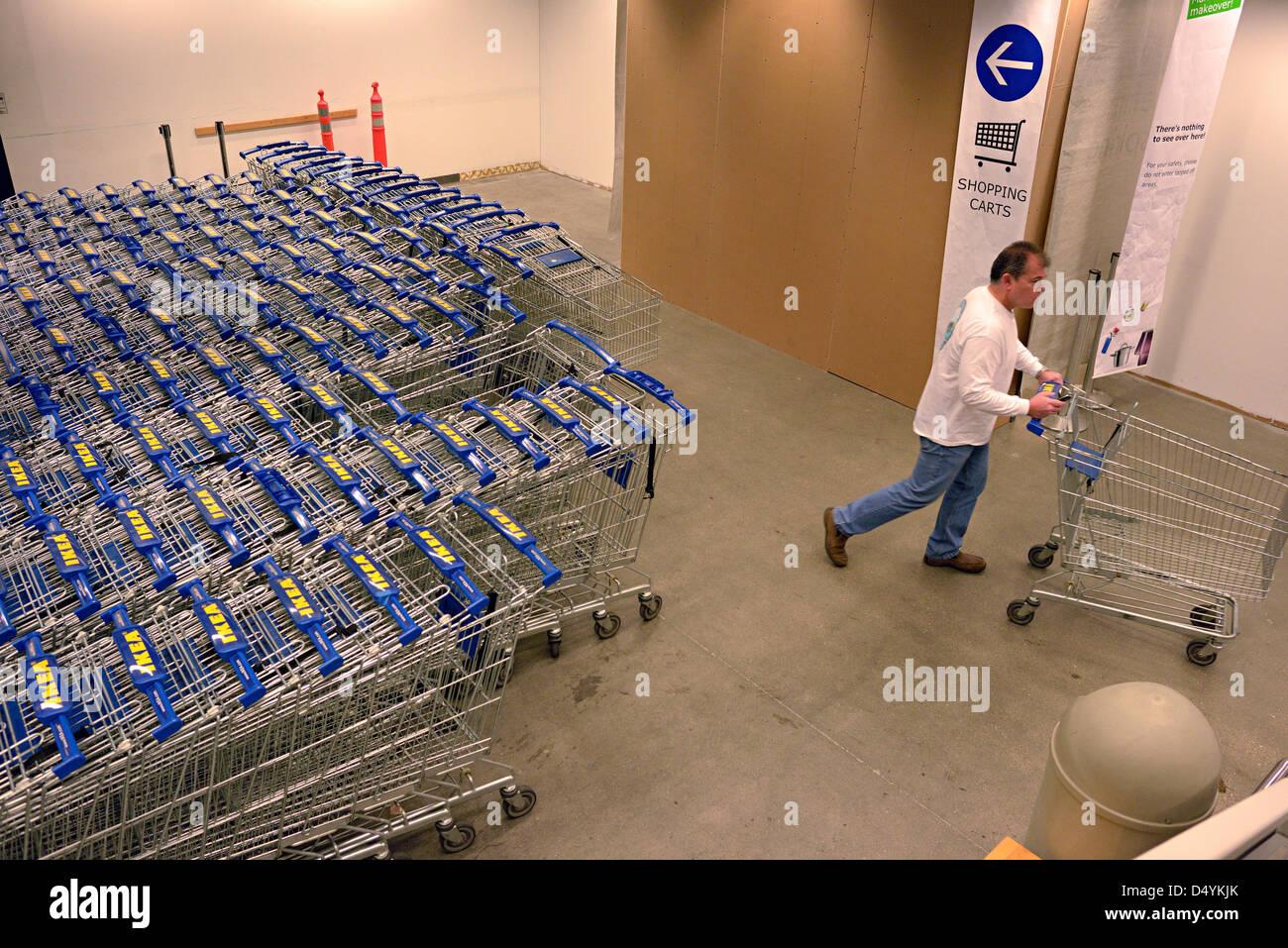 Ikea Trolleys San Francisco Stock Photo: 54697851   Alamy